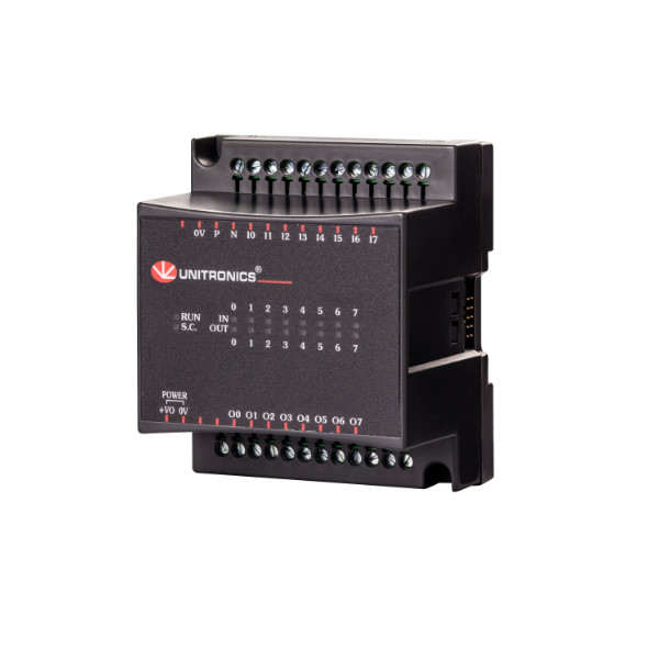 EX90-IO-DI8-RO8 | Unitronics I/O Module | 8 Digital IN, 8 Relay OUT