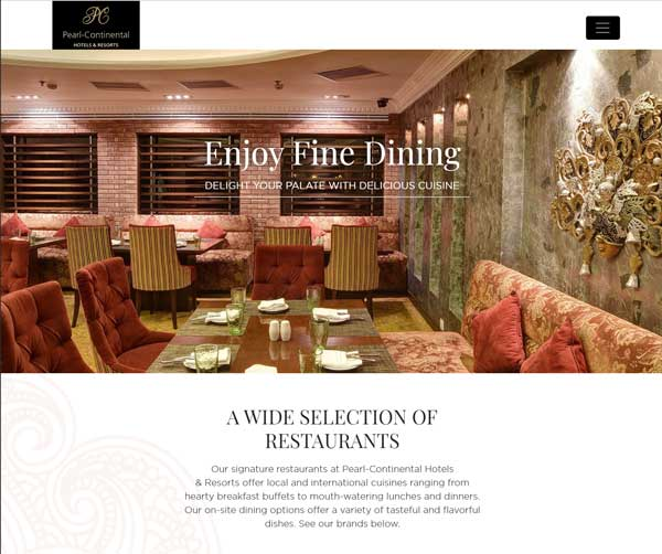 PC Hotels Website