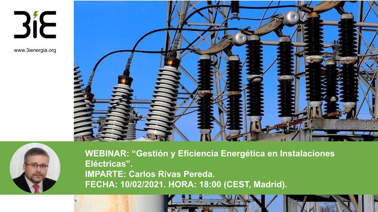 Webinar Eficiencia energética en instalaciones eléctricas