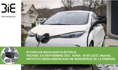El III Foro de Movilidad Eléctrica se celebrará online este mes de septiembre