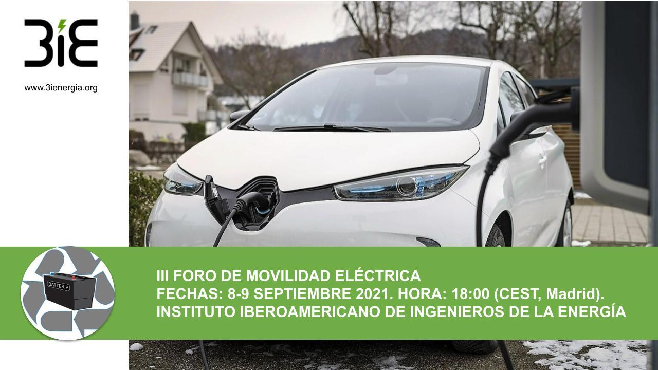III Foro de Movilidad Eléctrica 3IE