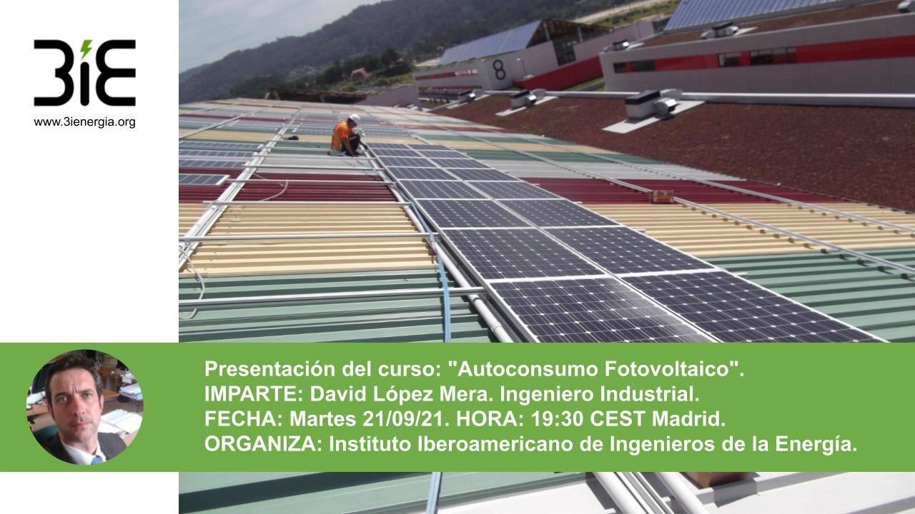 Presentación de Curso Autoconsumo Fotovoltaico sep21