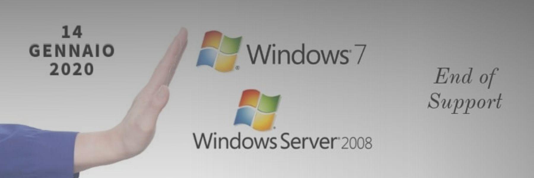 Fine del Supporto Microsoft per Windows 7 e Windows Server 2008