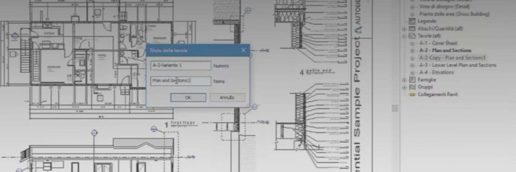 Autodesk Revit e Duplicazione Tavole