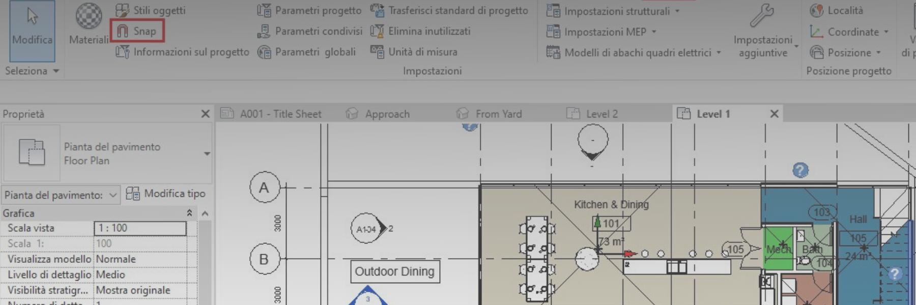 Gli SNAP in Autodesk Revit