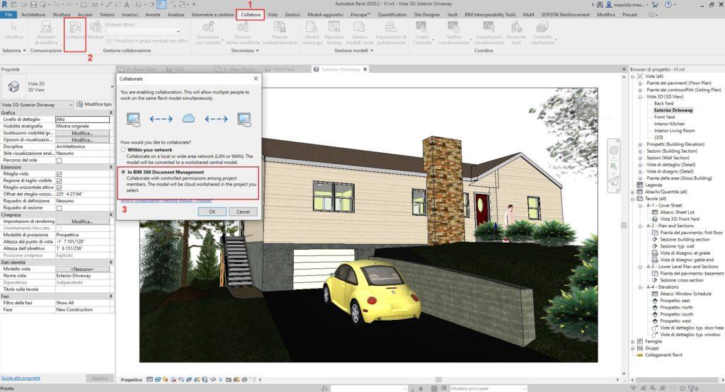 Come Collaborare con BIM360 Design - In BIM 360 Document Management