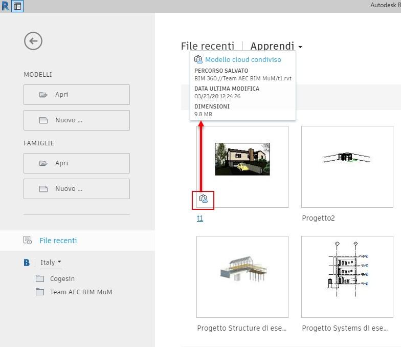 Come Collaborare con BIM360 Design - file in cloud