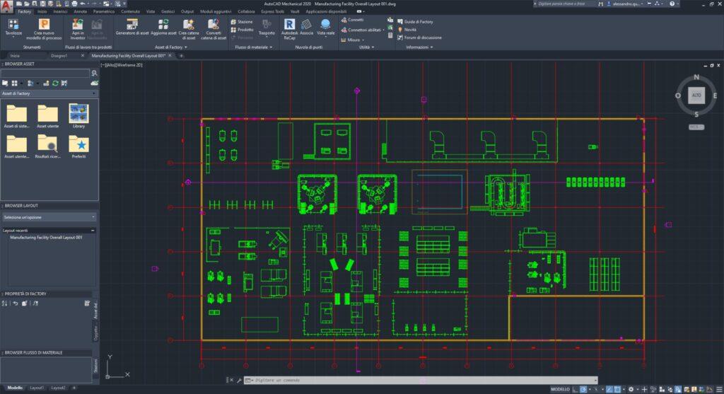 Factory Design Utilities Verifica Interferenze