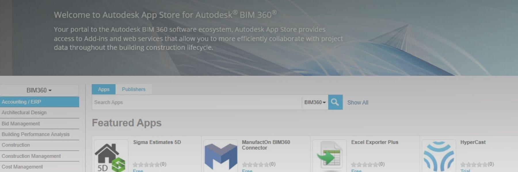 Integrazione App in BIM360 Docs featured