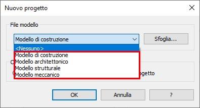 Personalizzare l'Elenco dei Modelli Revit - File Modello