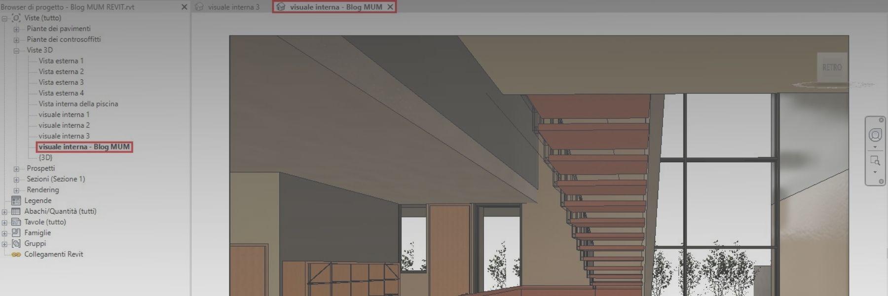 Bloccare una Vista 3D in Revit