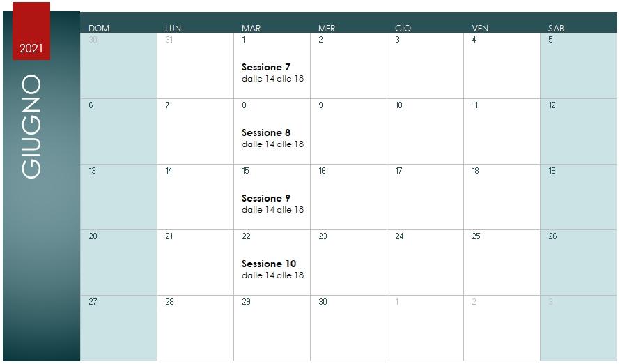 Corso Base Dynamo Studio Calendario Giugno 2021
