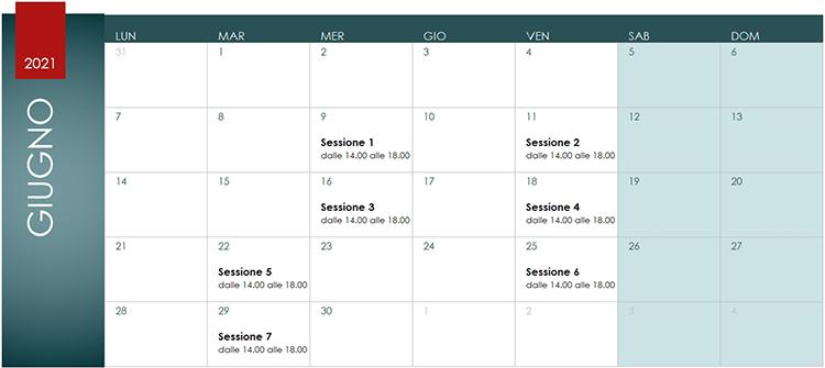 Corso BIM Manager Calendario Giugno