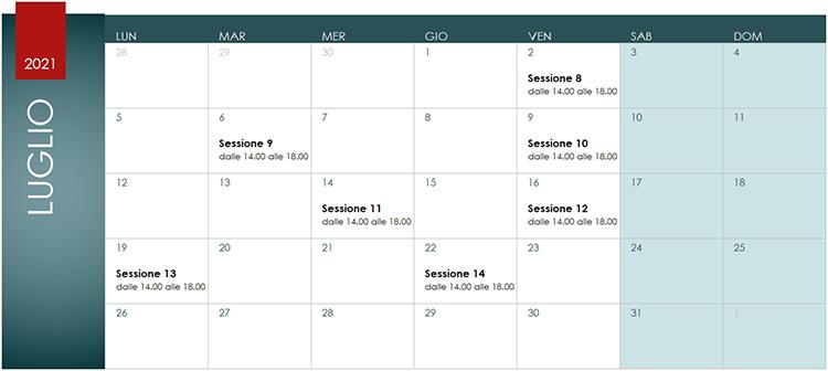 Corso BIM Manager Calendario Luglio