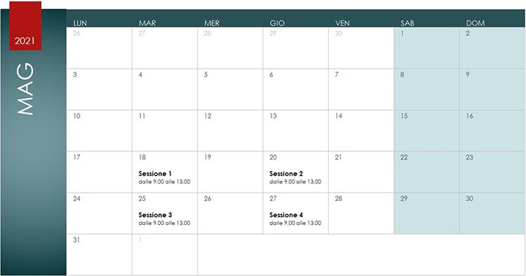Corso Revit MEP Calendario Maggio