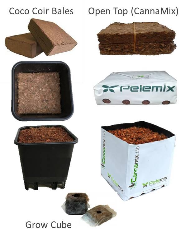 Productos de turba de coco para cannabis