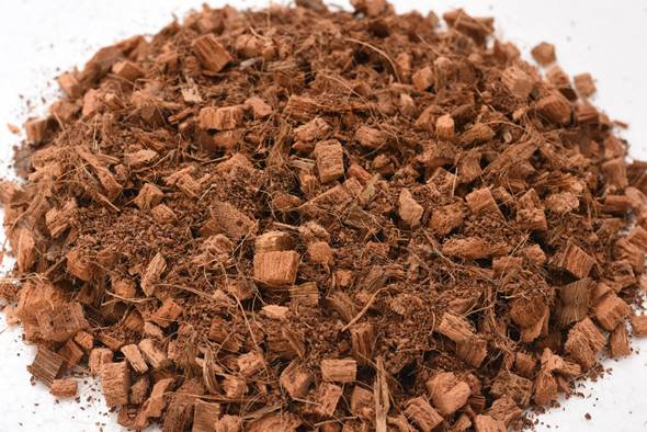 material de bolsas de cultivo de fibra de coco triturado profesional