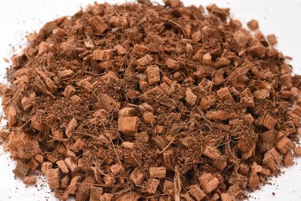 material de bolsas de cultivo de turba de coco triturado profesional