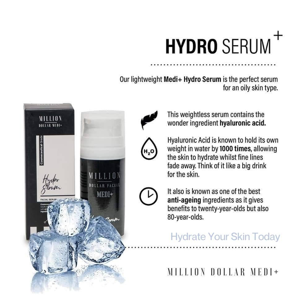 Million Dollar Facial Medi+ Virtual Consultation Hydro Serum