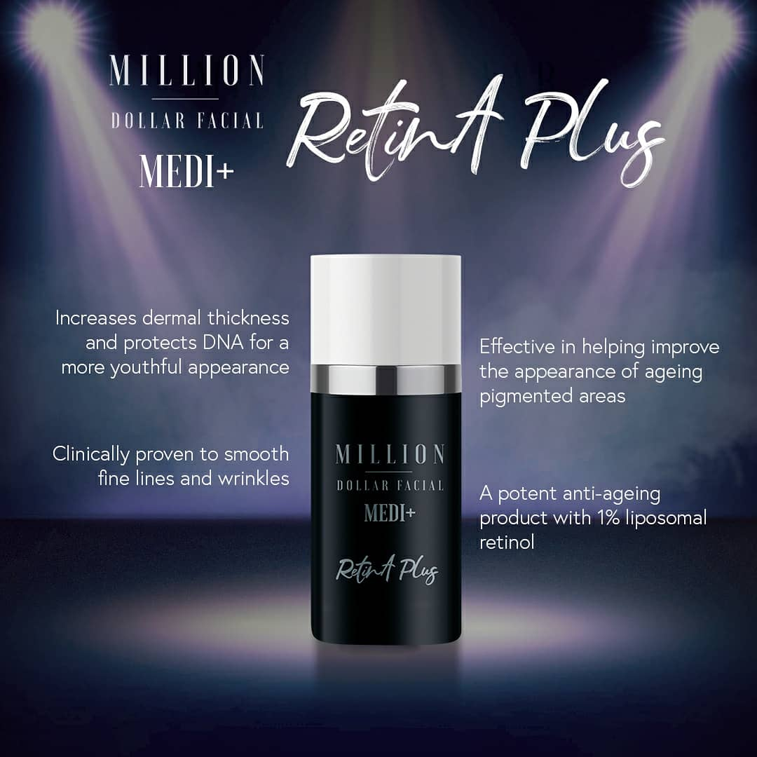 Million Dollar Facial Medi+ Retin A Plus at Uber Pigmentations