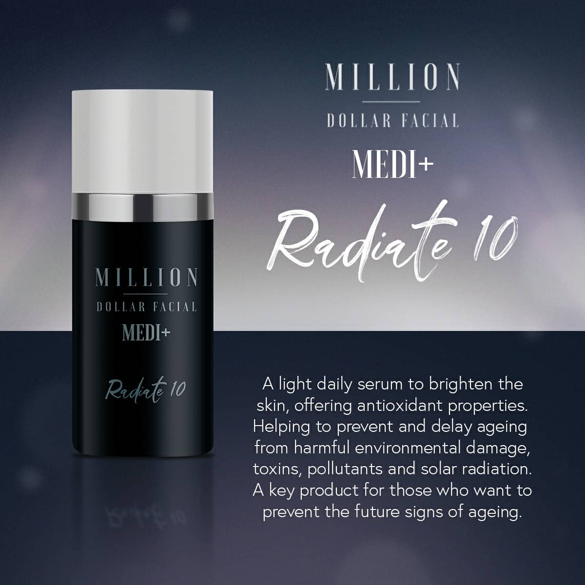 Million Dollar Facial Medi+ Radiate 10 at Uber Pigmentations