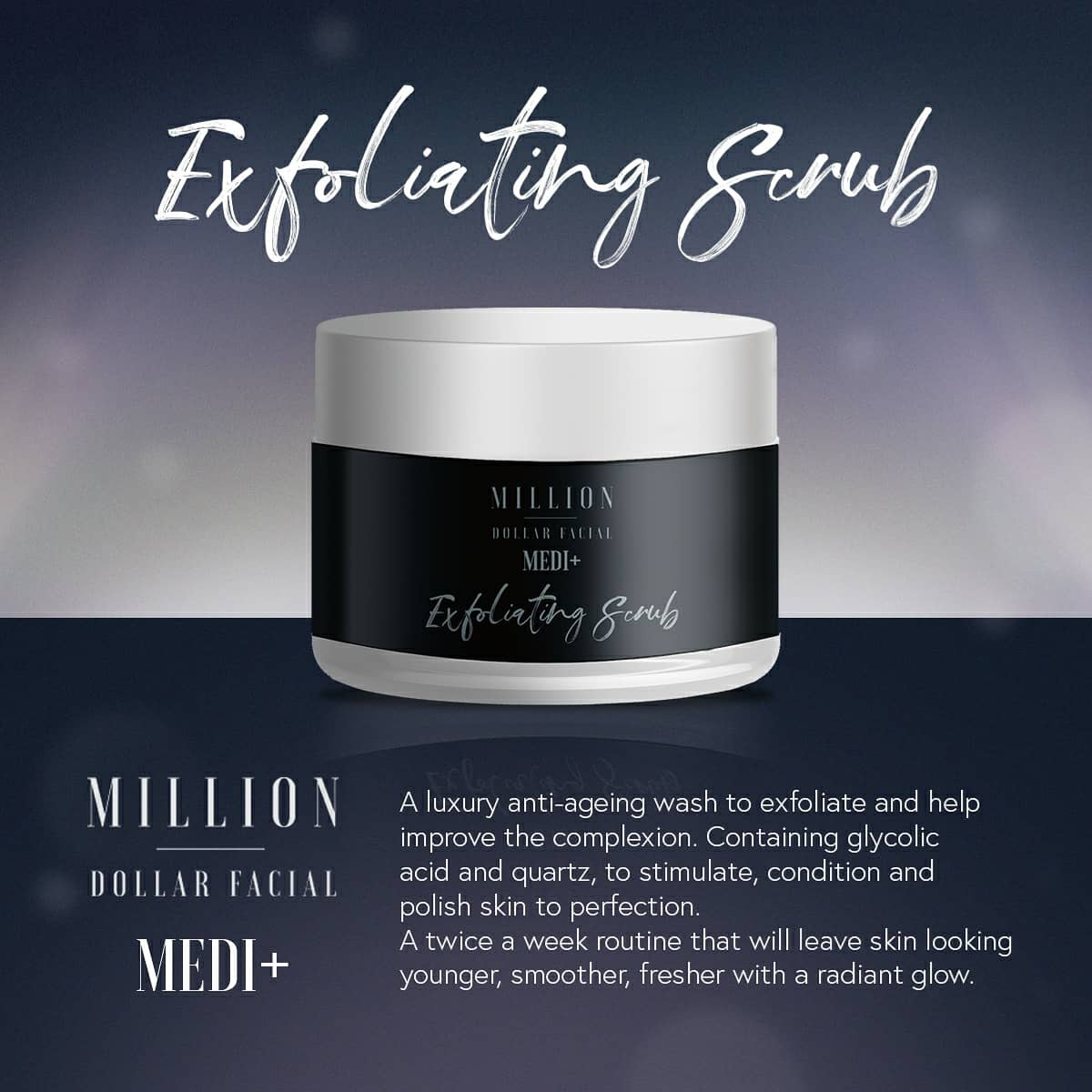 Exfoliating Scrub From Million Dollar Facial at Uber Pigmentations