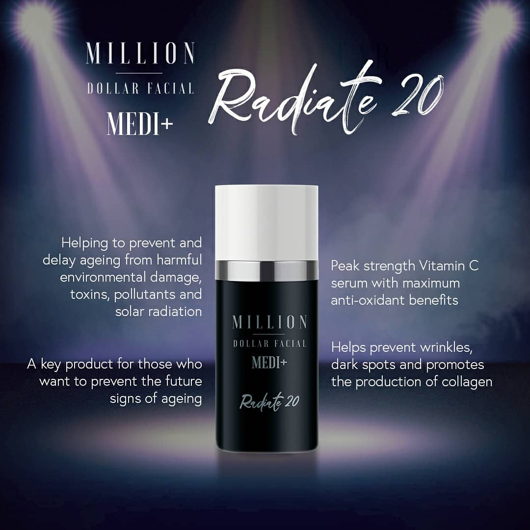 Million Dollar Facial Medi+ Radiate 20 at Uber Pigmentations