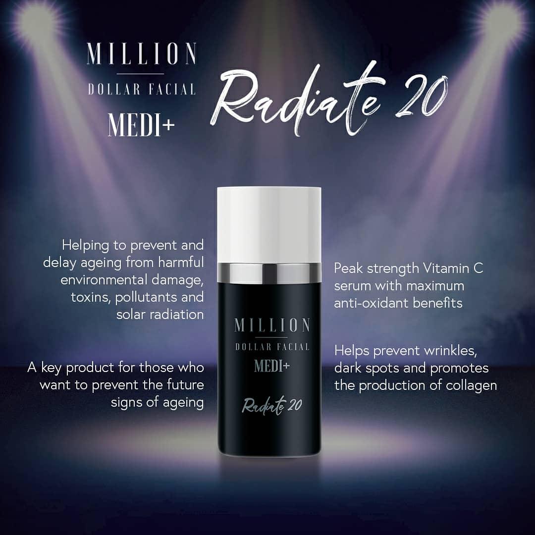 Million Dollar Facial Medi+ Radiate 20 at Uber Pigmentations