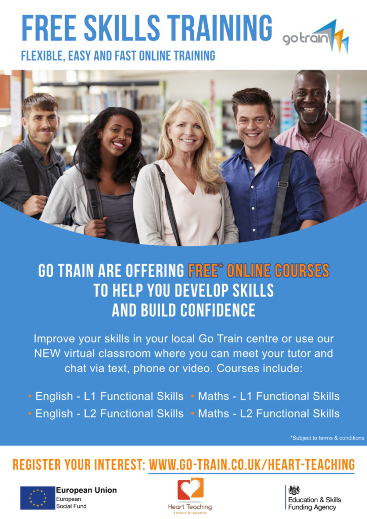 GO TRAIN offer free training in L2 Maths and English