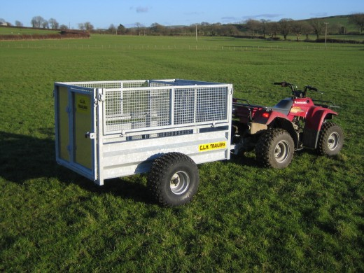 CLH 5x3 Mesh Drop Sided ATV Trailer