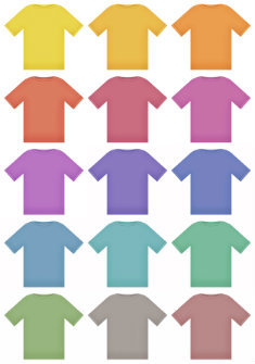 colorful t shirts