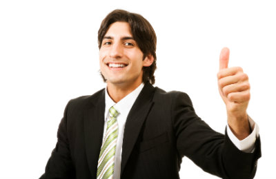 thumbs up for success