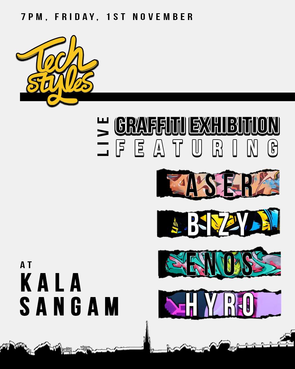 Tech Styles Live Graffiti Exhibition
