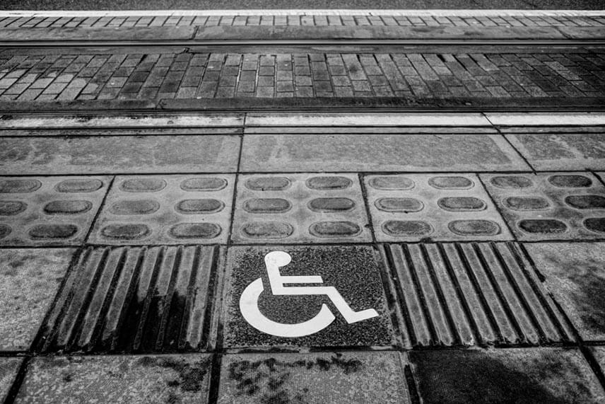 A disabled access sign