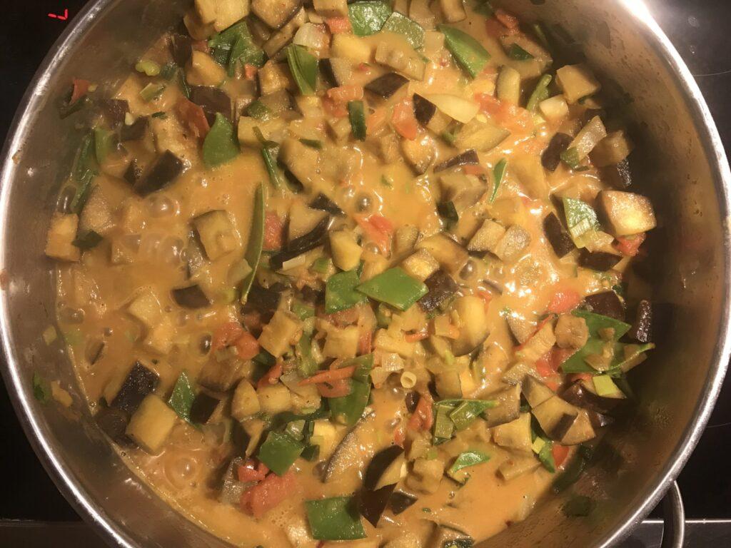 Curry Nahaufnahme kochen