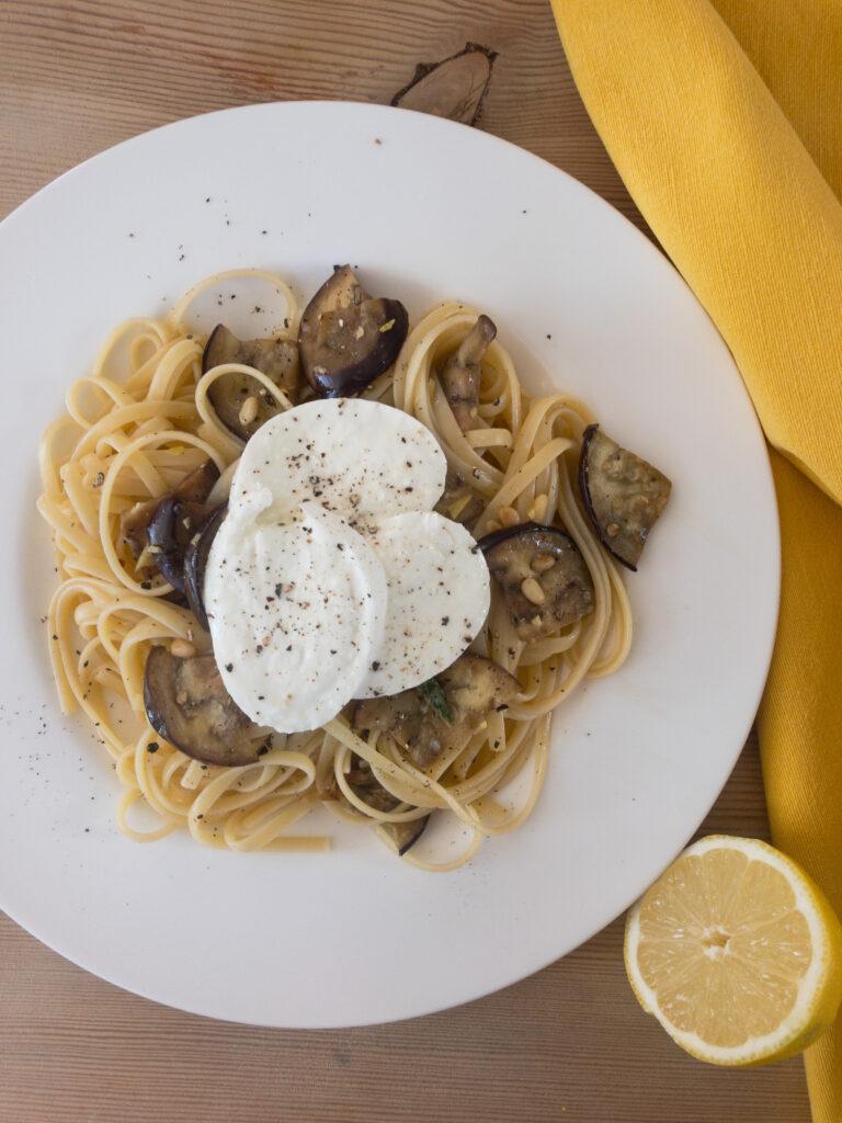 Spaghetti mit Zitrone