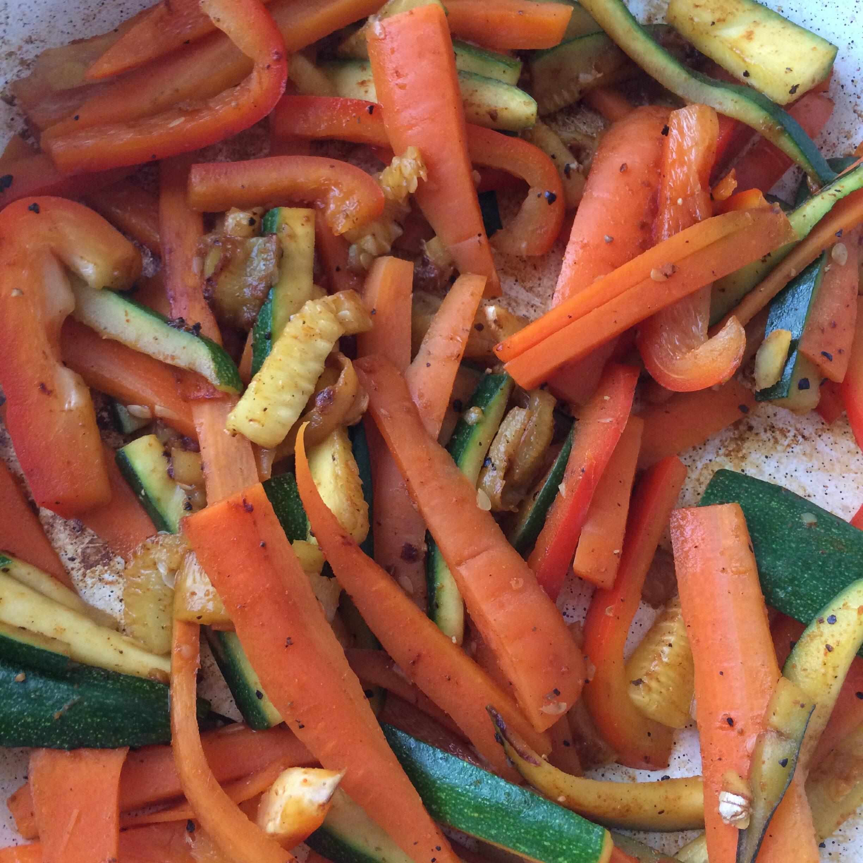 Gemüse angebraten