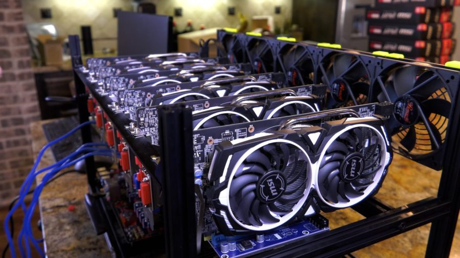 cryptocurrency mining device