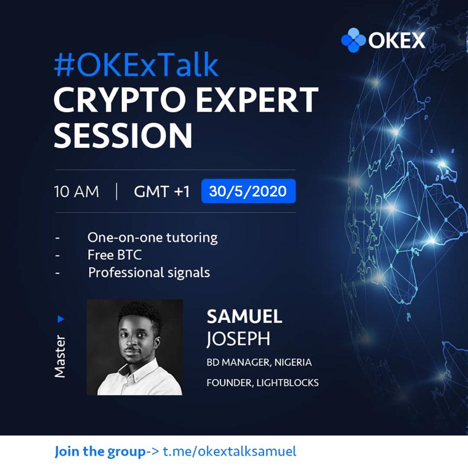 okex Trading session with samuel joseph
