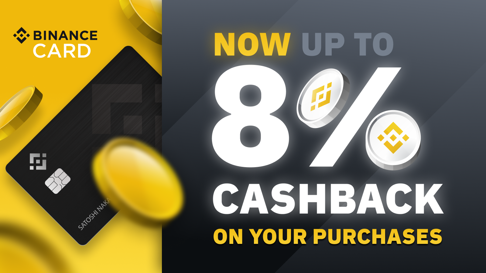 Binance Visa Card Now Available in Europe with up to 8% Cashback Rewards