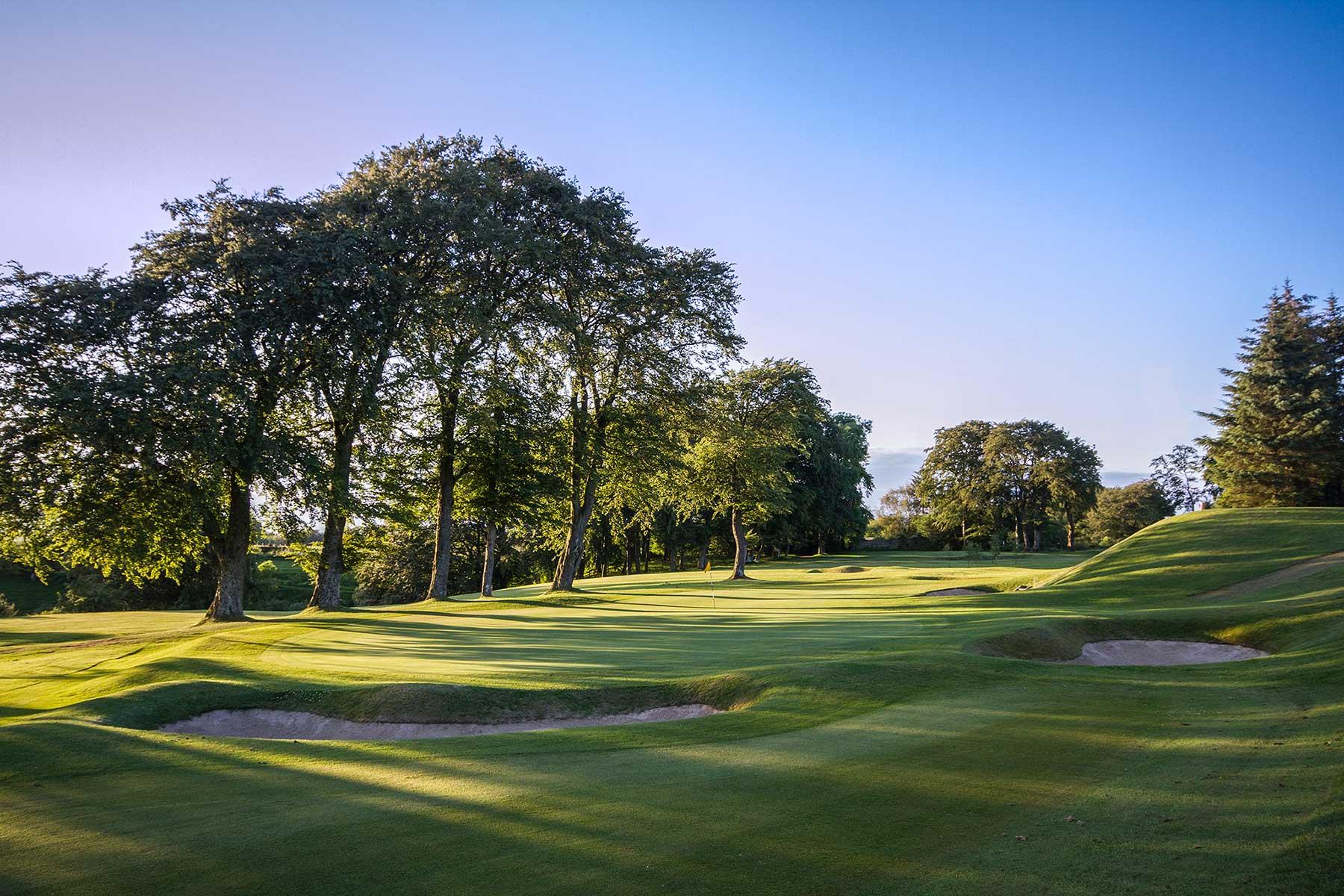 Harburn Golf Club 3rd-Green-from-behind-1