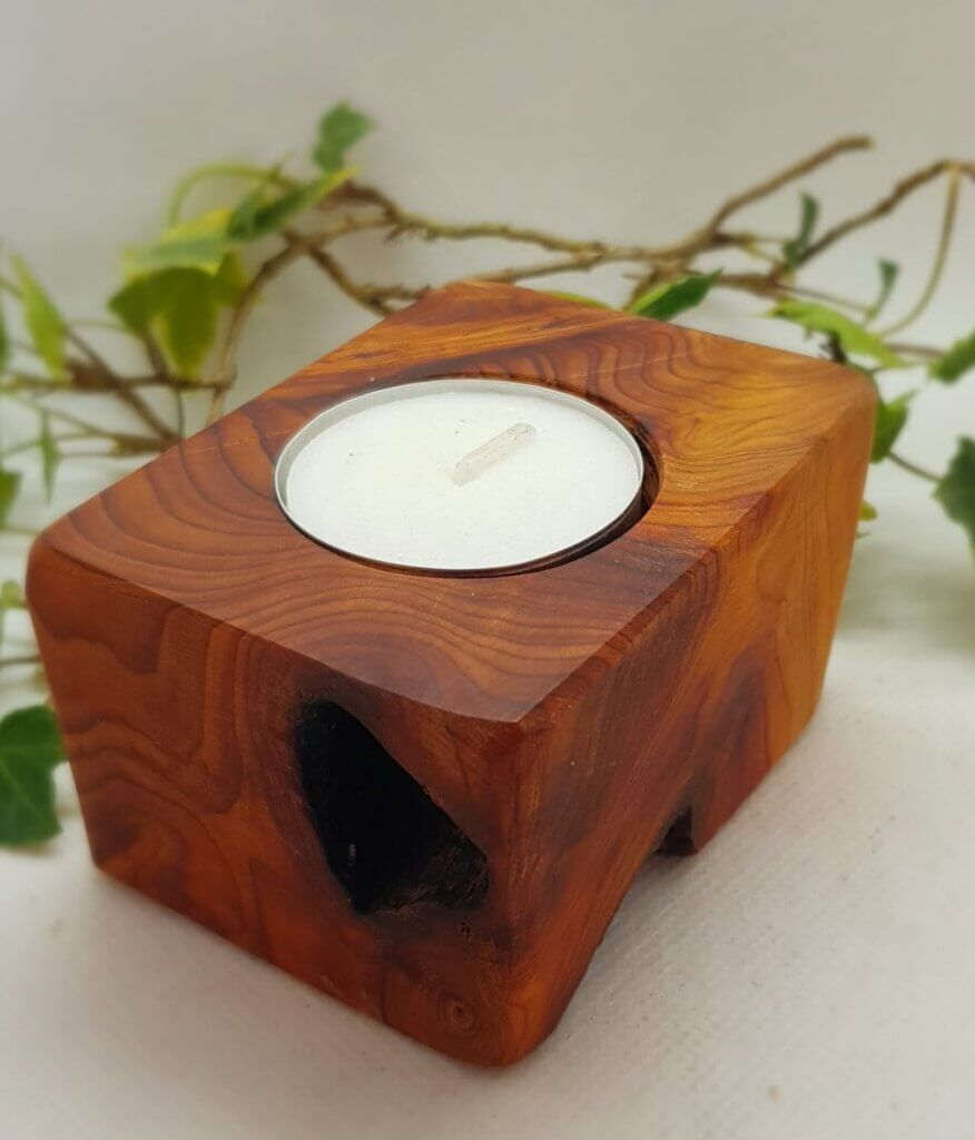 Yew Tea light holder