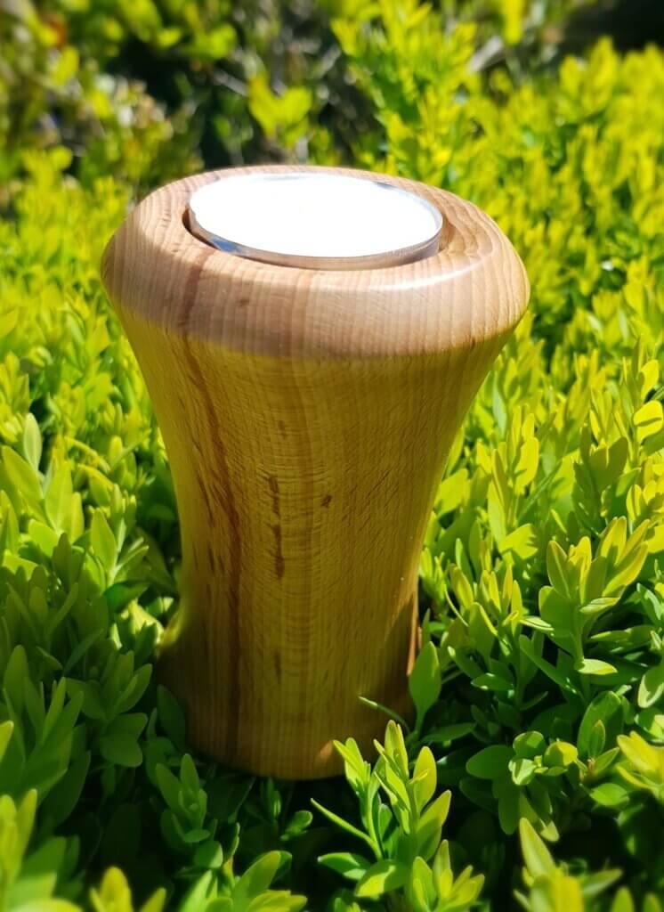 Turned tea light holder