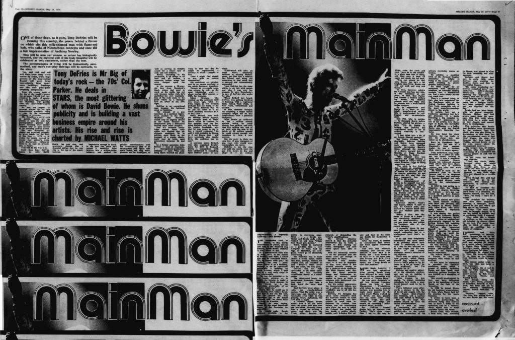 Bowie's MainMan
