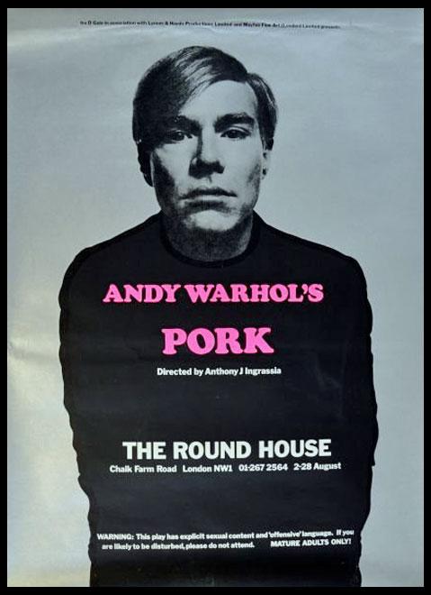 Pork Poster Camden Roundhouse 1971