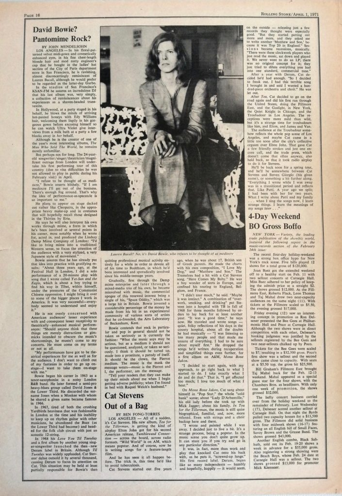 Rolling Stone magazine April 1971