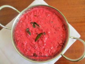Beetroot Pachadi-Kerala Sadya Recipe