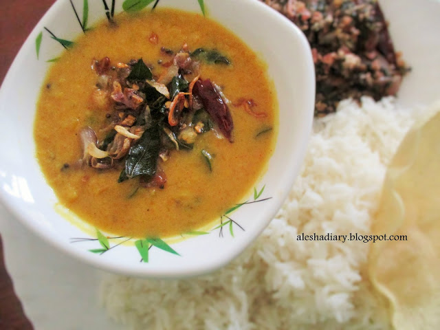 Mathanga Parippu Curry(mathanga parippu erissery) – Yellow Pumpkin dal curry