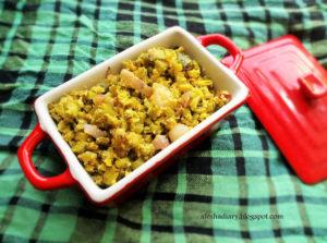Cluster Beans Thoran – Cluster Beans stir fry with Coconut – கொத்தவரங்காய் பொரியல்