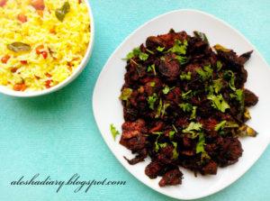 Spicy Mushroom Roast-காளான் ரோஸ்ட்(Kalan Roast)-How to make Mushroom roast